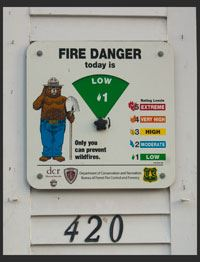 Smoky the Bear sign - Fire Department